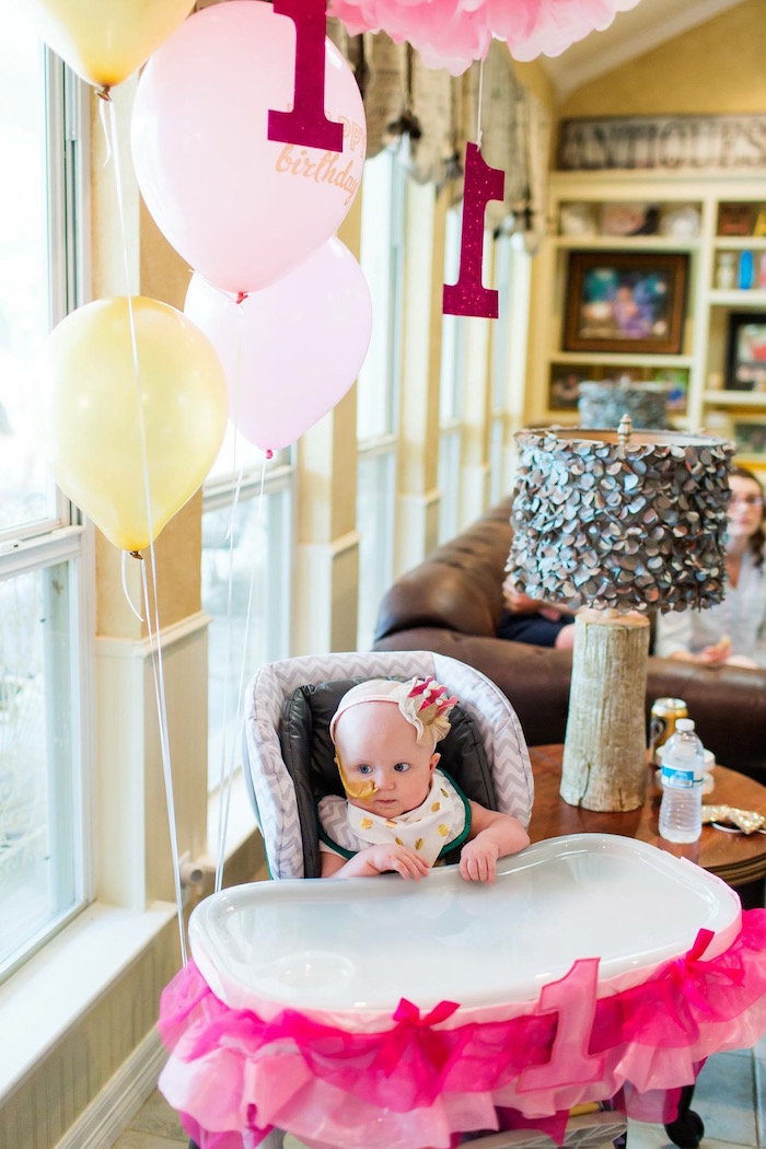 Karas Party Ideas Pink Gold Cancer Free 1st Birthday Party