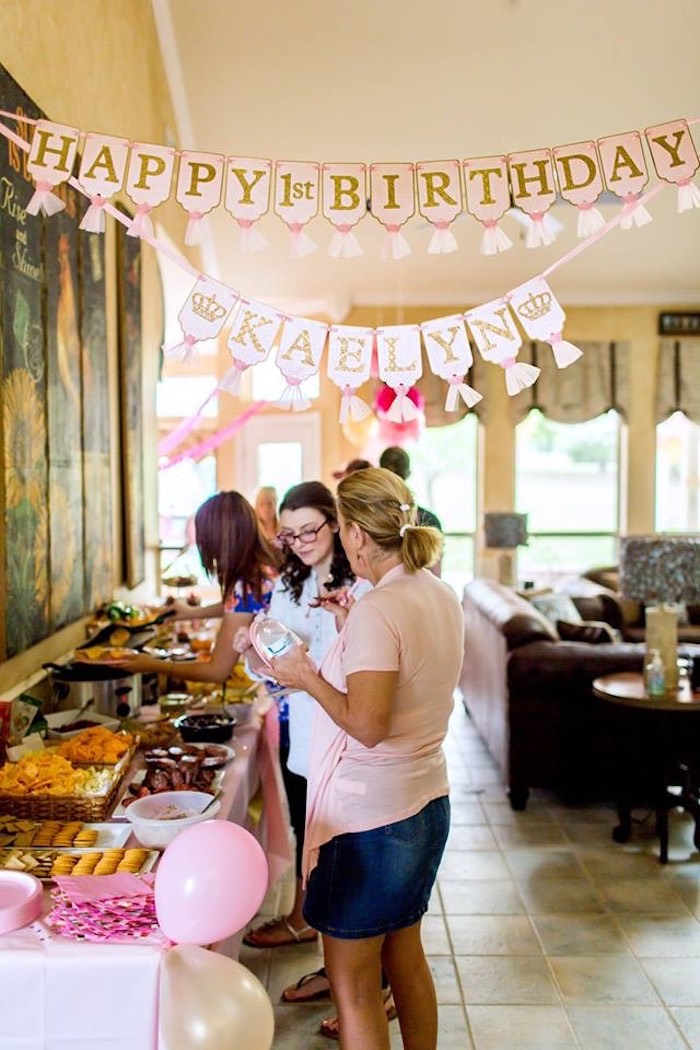 Kara S Party Ideas Pink Amp Gold Cancer Free 1st Birthday
