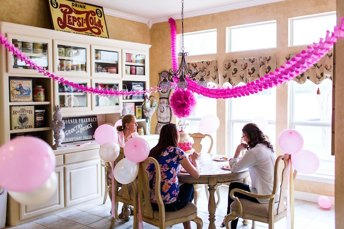 Decor from a Pink & Gold Cancer-Free 1st Birthday Party via Kara's Party Ideas | KarasPartyIdeas.com (24)