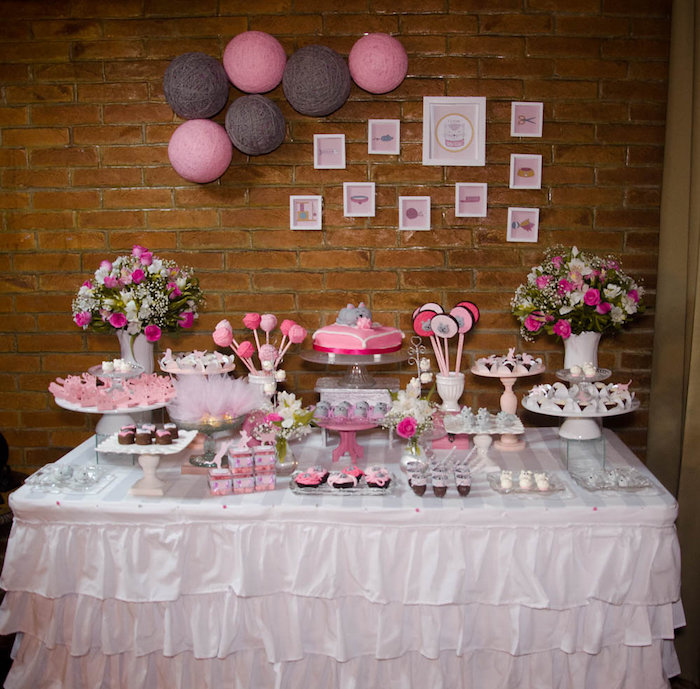 Dessert Table from a Pink Kitten Birthday Party via Kara's Party Ideas - KarasPartyIdeas.com (11)