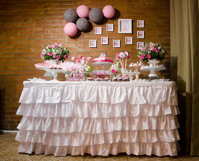 Head Table from a Pink Kitten Birthday Party via Kara's Party Ideas - KarasPartyIdeas.com (5)