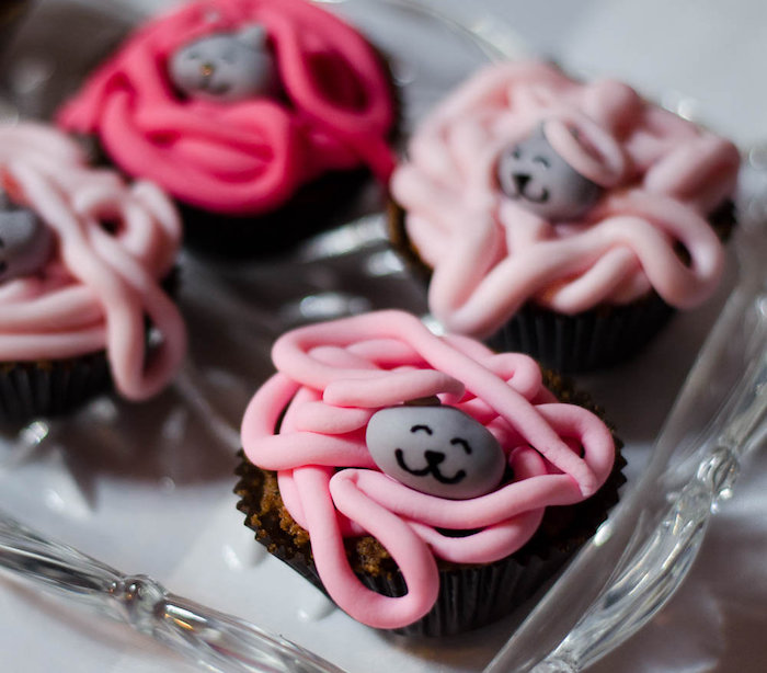 Cupcakes from a Pink Kitten Birthday Party via Kara's Party Ideas - KarasPartyIdeas.com (32)