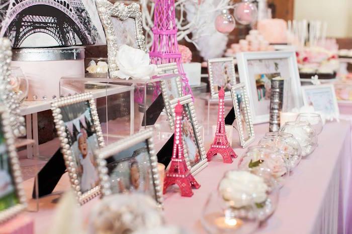 Decor from a Pink Paris 1st Birthday Party via Kara's Party Ideas KarasPartyIdeas.com (6)