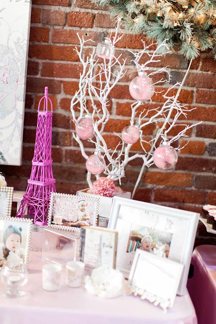 Details + Decorations from a Pink Paris 1st Birthday Party via Kara's Party Ideas KarasPartyIdeas.com (3)