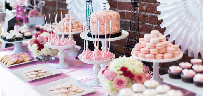 Dessert Table Details from a Pink Paris 1st Birthday Party via Kara's Party Ideas KarasPartyIdeas.com (2)