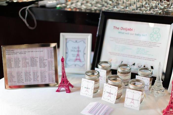 Doljabi Table Details from a Pink Paris 1st Birthday Party via Kara's Party Ideas KarasPartyIdeas.com (23)