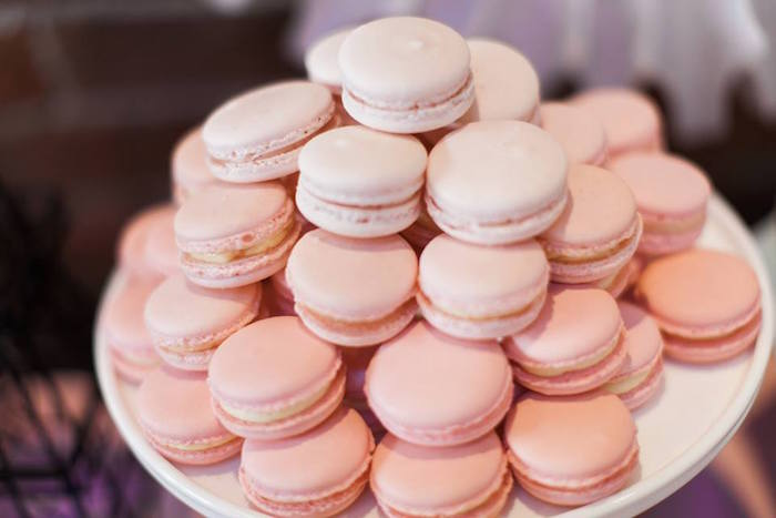 French Macarons from a Pink Paris 1st Birthday Party via Kara's Party Ideas KarasPartyIdeas.com (19)