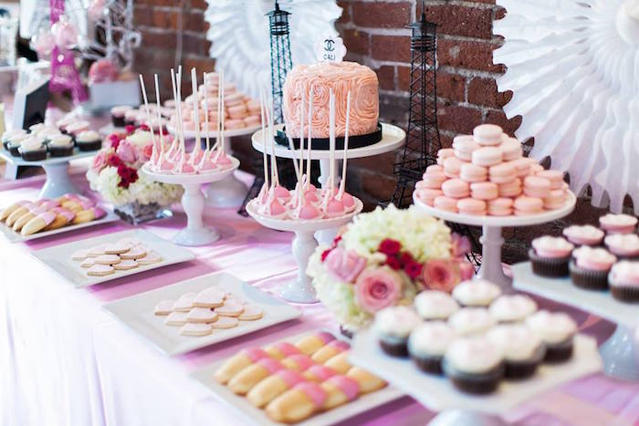 Kara's Party Ideas Pink Paris 1st Birthday Party | Kara's ...