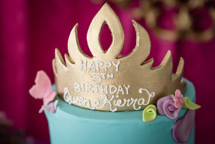 Cake Detail from a Princess Birthday Party via Kara's Party Ideas | KarasPartyIdeas.com - The Place for All Things Party! (21)