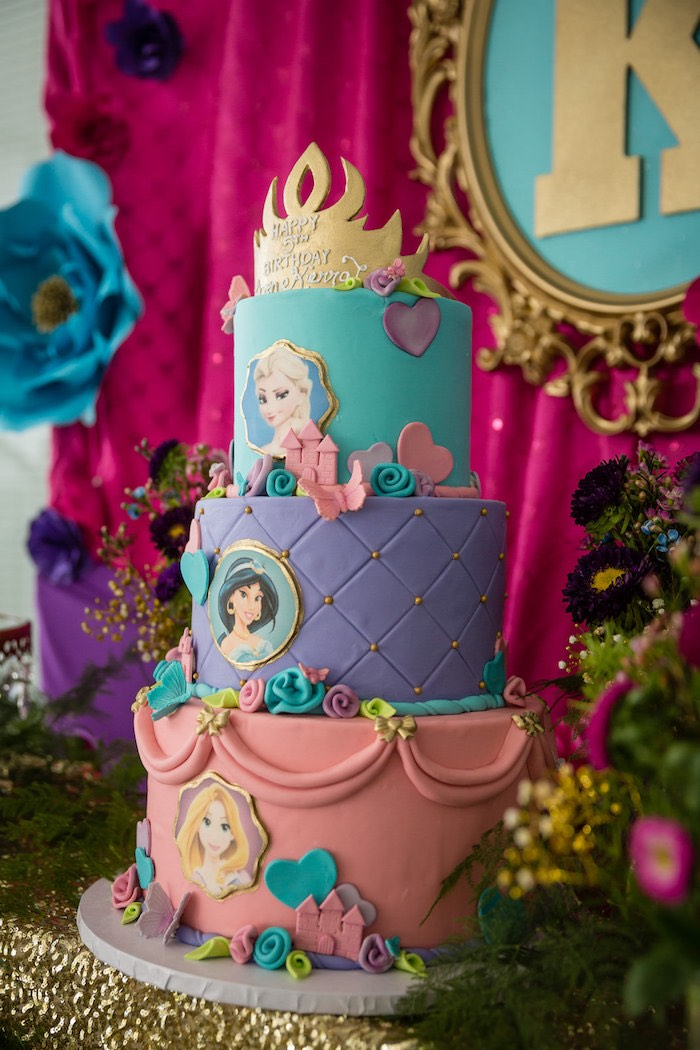 Cake From A Princess Birthday Party Via Karas Ideas