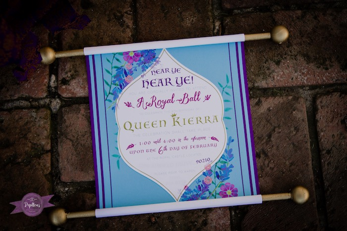 Scroll Invitation from a Princess Birthday Party via Kara's Party Ideas | KarasPartyIdeas.com - The Place for All Things Party! (14)