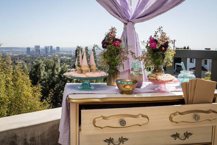 Sweet Table from a Princess Birthday Party via Kara's Party Ideas | KarasPartyIdeas.com - The Place for All Things Party! (12)