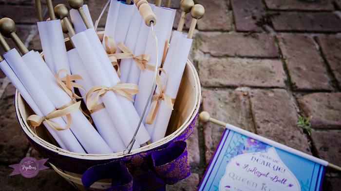 Scroll Invitations from a Princess Birthday Party via Kara's Party Ideas | KarasPartyIdeas.com - The Place for All Things Party! (11)