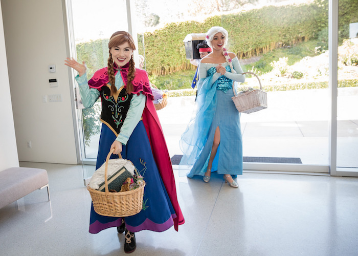 Anna + Elsa in attendance at a Princess Royal Ball Birthday Party via Kara's Party Ideas | KarasPartyIdeas.com - The Place for All Things Party! (6)