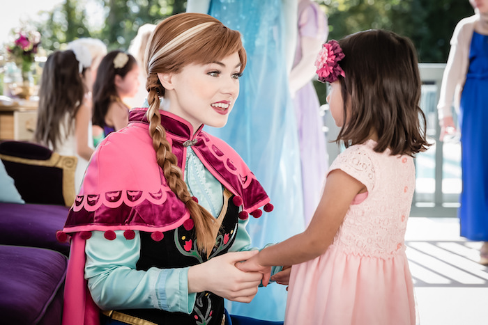 Anna + Little Girl from a Princess Birthday Party via Kara's Party Ideas | KarasPartyIdeas.com - The Place for All Things Party! (5)