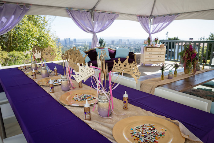 Partyscape from a Princess Royal Ball Birthday Party via Kara's Party Ideas | KarasPartyIdeas.com - The Place for All Things Party! (4)
