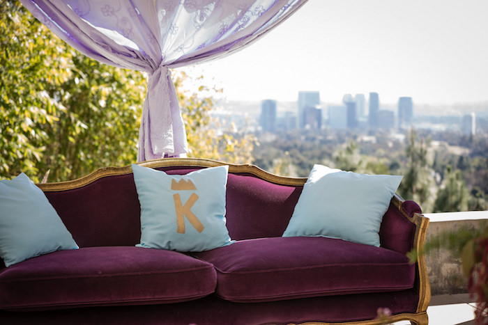 Lounge Area from a Princess Birthday Party via Kara's Party Ideas | KarasPartyIdeas.com - The Place for All Things Party! (3)