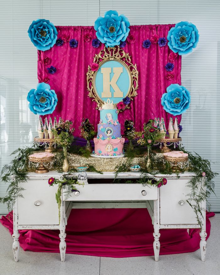 Dessert Table from a Princess Royal Ball Birthday Party via Kara's Party Ideas | KarasPartyIdeas.com - The Place for All Things Party! (2)