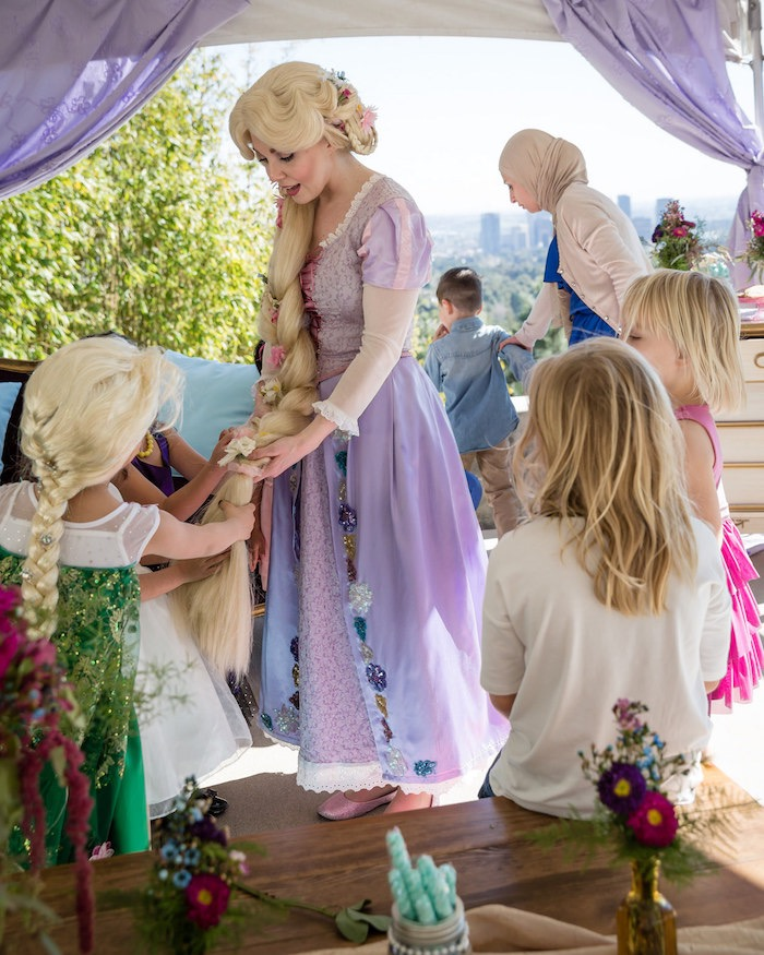 Rapunzel + Guests from a Princess Birthday Party via Kara's Party Ideas | KarasPartyIdeas.com - The Place for All Things Party! (27)