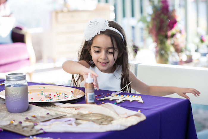 Crown Decorating Activity from a Princess Birthday Party via Kara's Party Ideas | KarasPartyIdeas.com - The Place for All Things Party! (23)