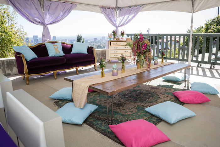 Lounge Area from a Princess Birthday Party via Kara's Party Ideas | KarasPartyIdeas.com - The Place for All Things Party! (22)