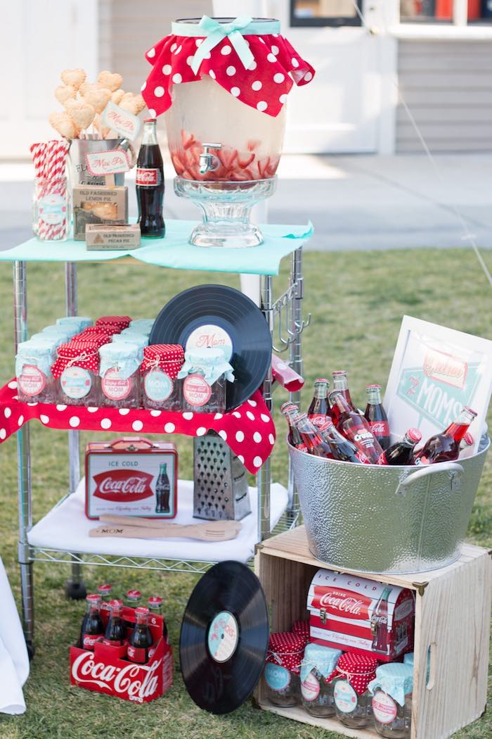 Kara s party ideas retro diner themed mother day