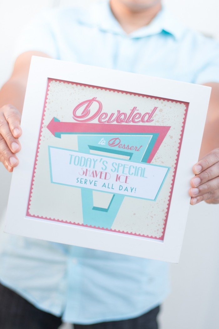 Signage from a Retro Diner Themed Mother's Day Party via Kara's Party Ideas | KarasPartyIdeas.com - The Place for All Things Party! (6)