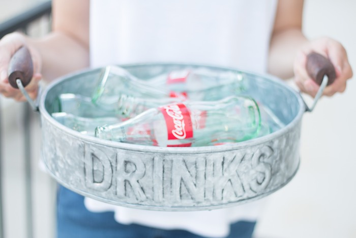 Drink Bottles from a Retro Diner Themed Mother's Day Party via Kara's Party Ideas | KarasPartyIdeas.com - The Place for All Things Party! (4)