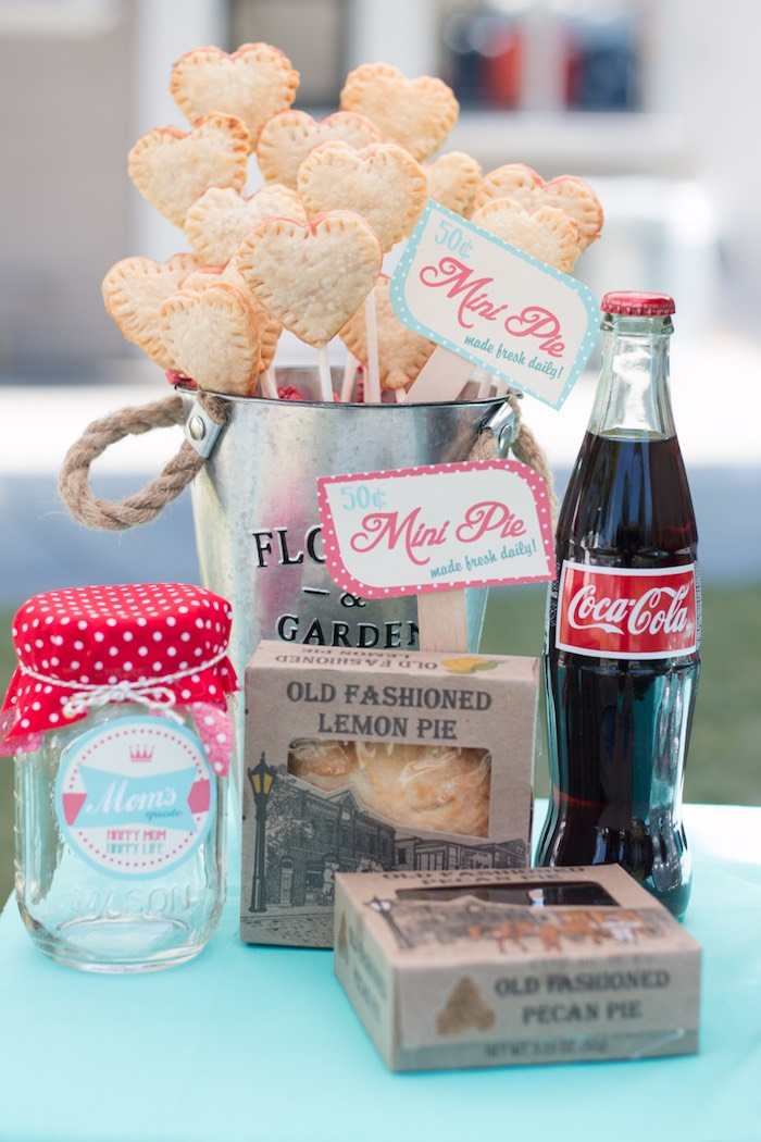 Details from a Retro Diner Themed Mother's Day Party via Kara's Party Ideas | KarasPartyIdeas.com - The Place for All Things Party! (22)