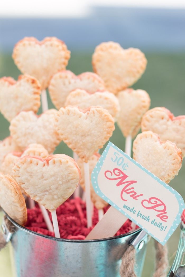 Mini Pie Pops from a Retro Diner Themed Mother's Day Party via Kara's Party Ideas | KarasPartyIdeas.com - The Place for All Things Party! (21)