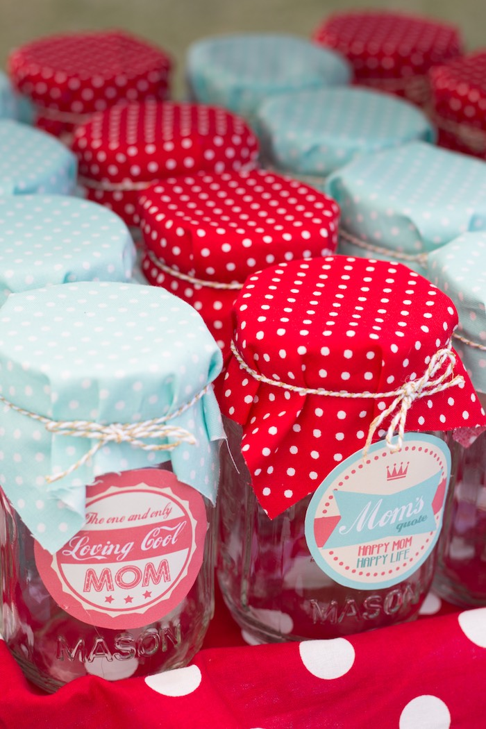 Favor Jars from a Retro Diner Themed Mother's Day Party via Kara's Party Ideas | KarasPartyIdeas.com - The Place for All Things Party! (18)