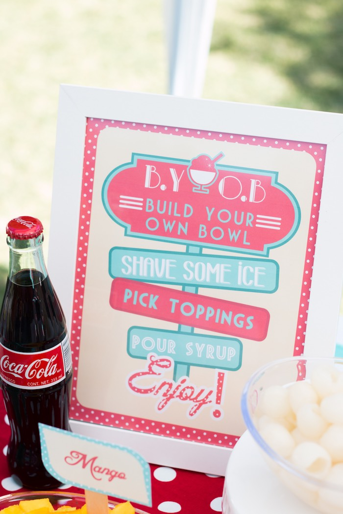 Sign + Stationery from a Retro Diner Themed Mother's Day Party via Kara's Party Ideas | KarasPartyIdeas.com - The Place for All Things Party! (17)