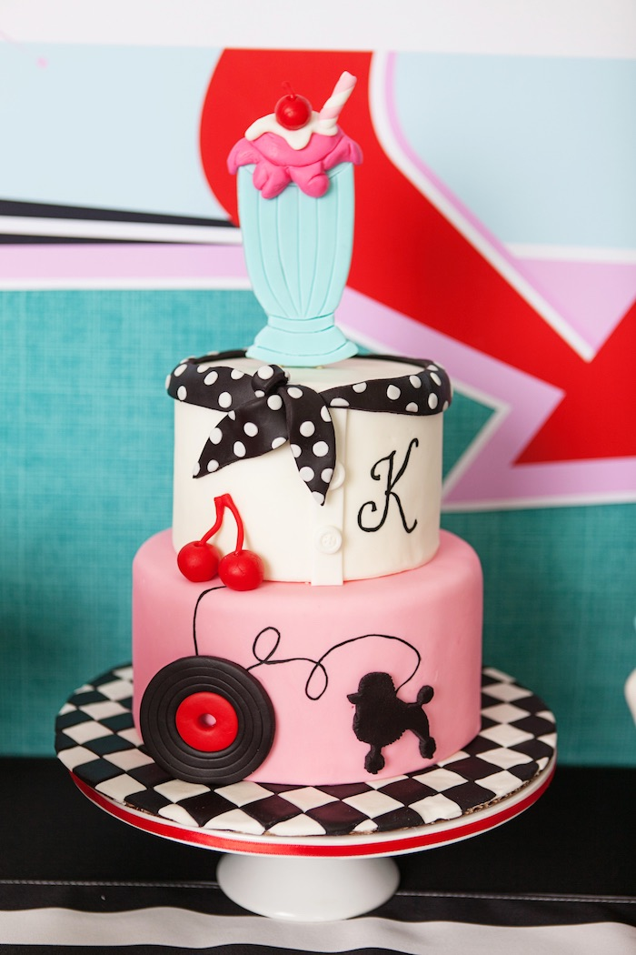 Cake from a Retro Soda Shoppe Birthday Party via Kara's Party Ideas - The Place for All Things Party! KarasPartyIdeas.com (47)