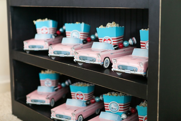 Car Favor Boxes from a Retro Soda Shoppe Birthday Party via Kara's Party Ideas - The Place for All Things Party! KarasPartyIdeas.com (27)
