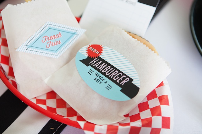 Food Basket + Stationery from a Retro Soda Shoppe Birthday Party via Kara's Party Ideas - The Place for All Things Party! KarasPartyIdeas.com (24)