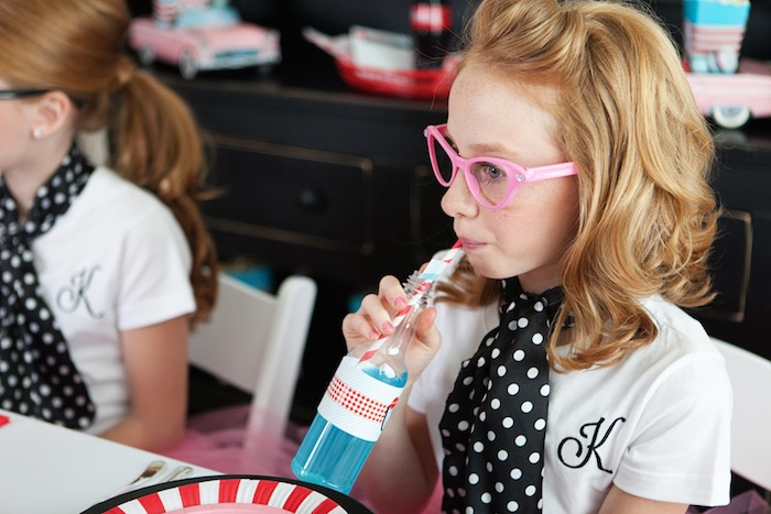 Party Goer from a Retro Soda Shoppe Birthday Party via Kara's Party Ideas - The Place for All Things Party! KarasPartyIdeas.com (19)