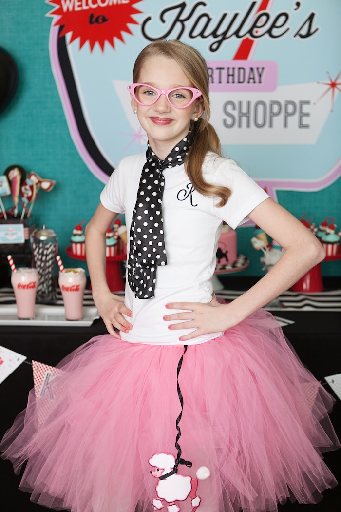 Birthday Girl from a Retro Soda Shoppe Birthday Party via Kara's Party Ideas - The Place for All Things Party! KarasPartyIdeas.com (14)