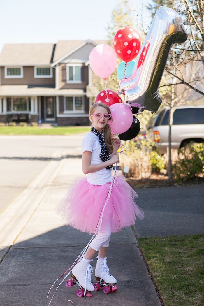 Birthday Girl from a Retro Soda Shoppe Birthday Party via Kara's Party Ideas - The Place for All Things Party! KarasPartyIdeas.com (13)