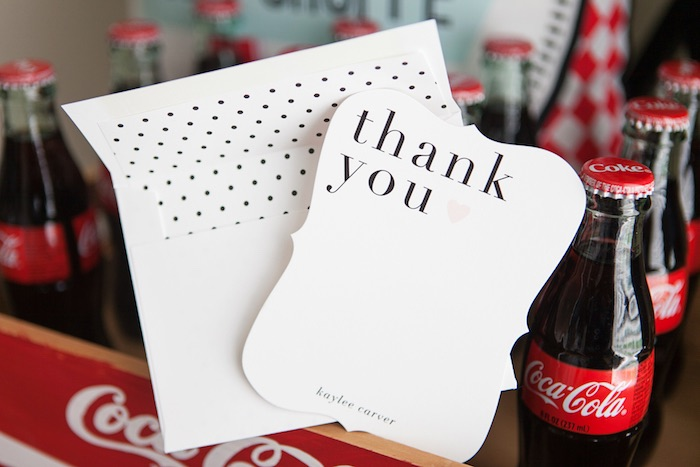 Thank You Cards from a Retro Soda Shoppe Birthday Party via Kara's Party Ideas - The Place for All Things Party! KarasPartyIdeas.com (12)