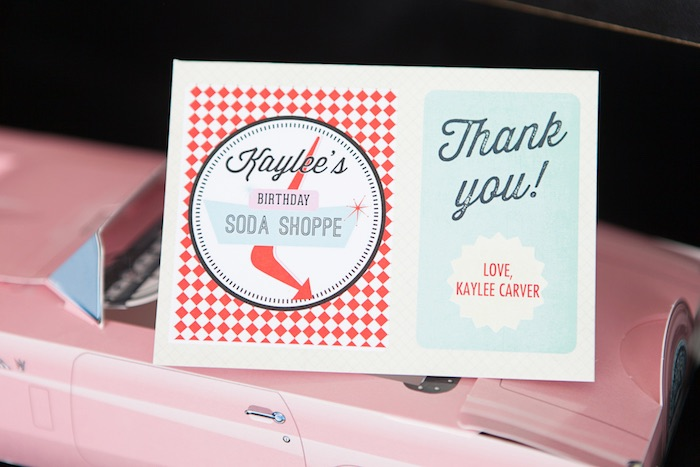 Stationery from a Retro Soda Shoppe Birthday Party via Kara's Party Ideas - The Place for All Things Party! KarasPartyIdeas.com (11)