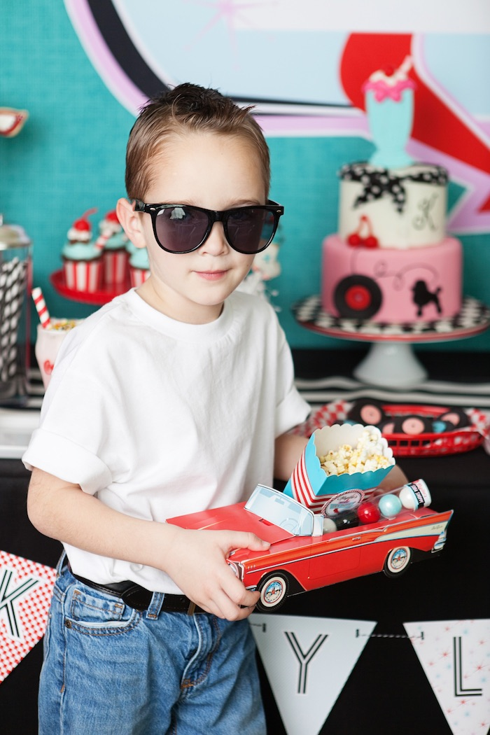 Little Stud + Favor Car from a Retro Soda Shoppe Birthday Party via Kara's Party Ideas - The Place for All Things Party! KarasPartyIdeas.com (10)