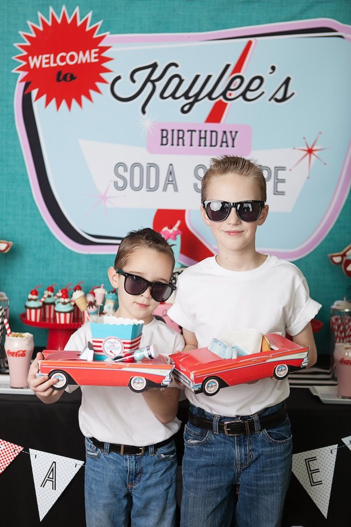 Little Studs from a Retro Soda Shoppe Birthday Party via Kara's Party Ideas - The Place for All Things Party! KarasPartyIdeas.com (9)