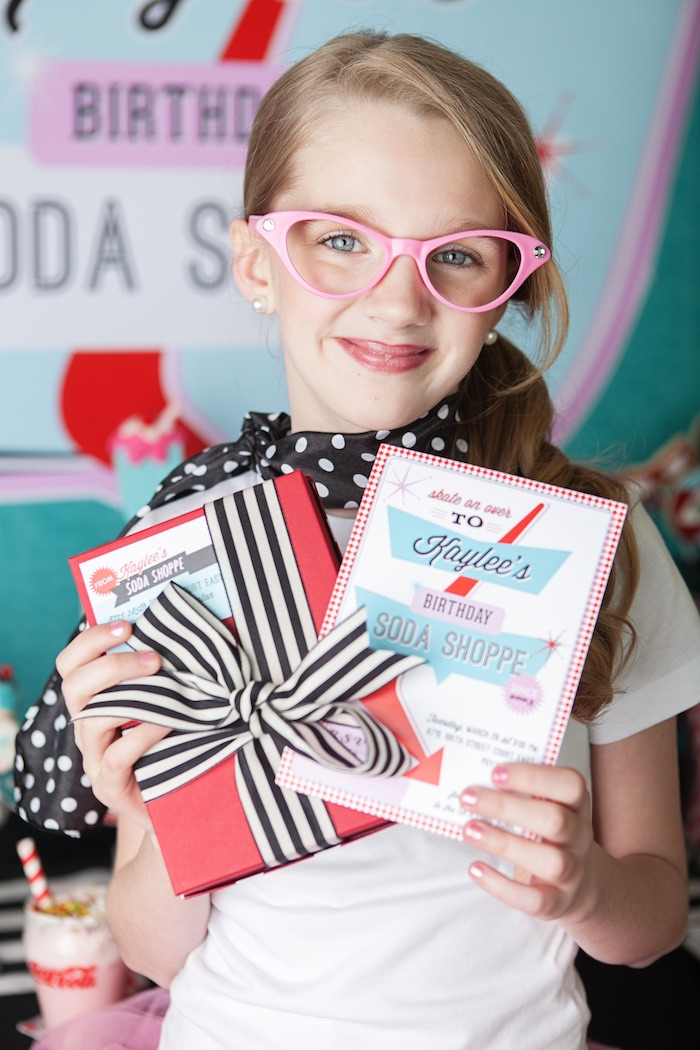 Invitation from a Retro Soda Shoppe Birthday Party via Kara's Party Ideas - The Place for All Things Party! KarasPartyIdeas.com (3)