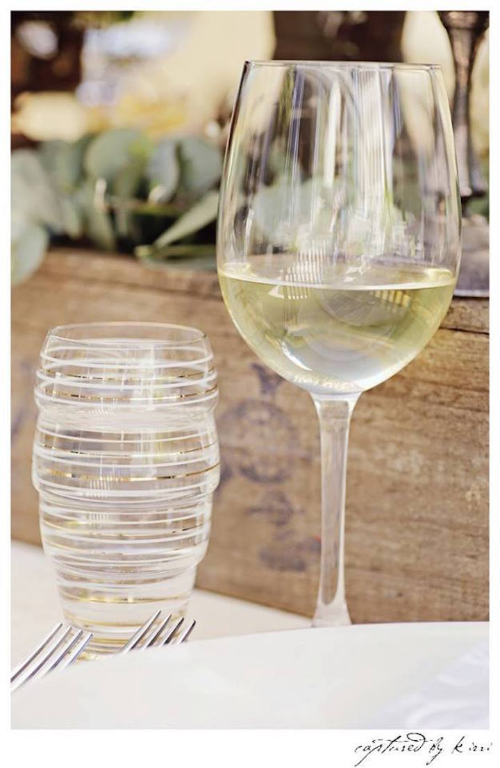 Drink Glasses from a Rustic Outdoor Bridal Shower via Kara's Party Ideas | KarasPartyIdeas.com | The Place for All Things Party! (46)