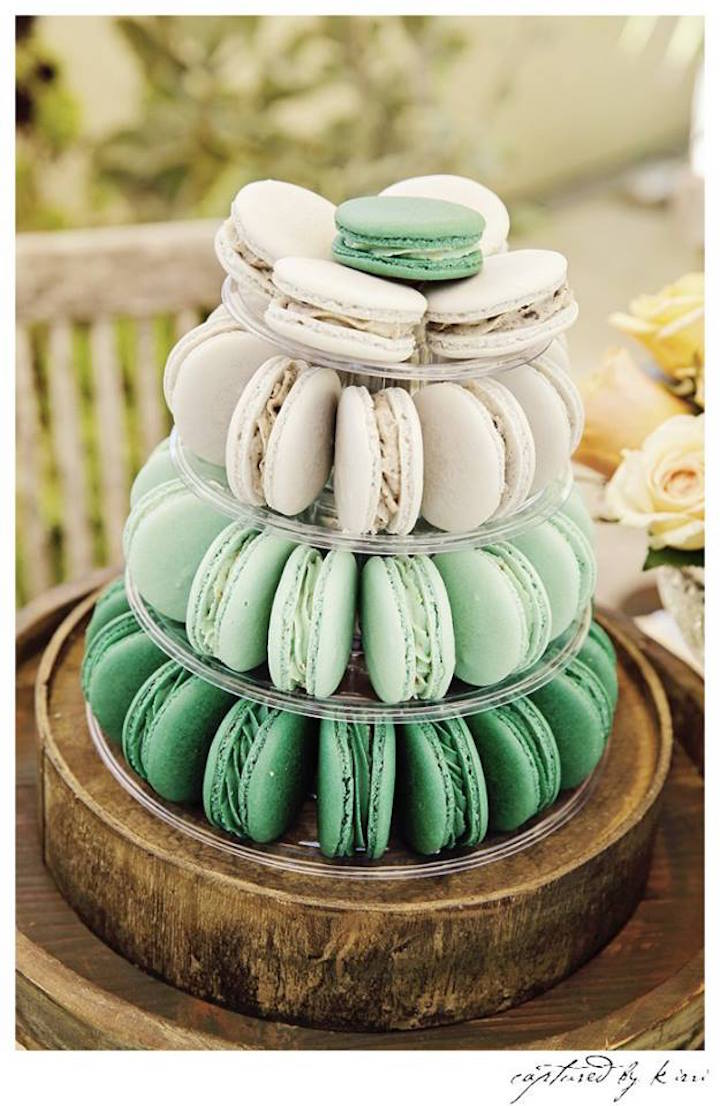From kara s party ideas rustic dessert table display designed by - Macaron Tower From A Rustic Outdoor Bridal Shower Via Kara S Party Ideas Karaspartyideas Com
