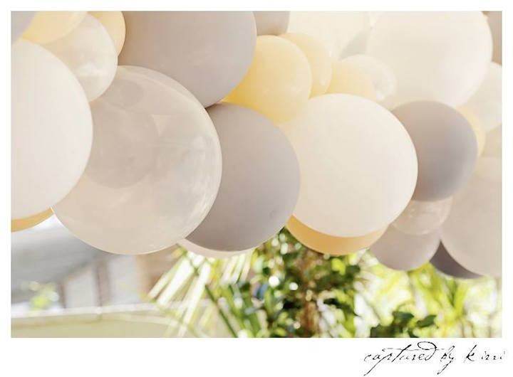 Balloon Banner from a Rustic Outdoor Bridal Shower via Kara's Party Ideas | KarasPartyIdeas.com | The Place for All Things Party! (38)