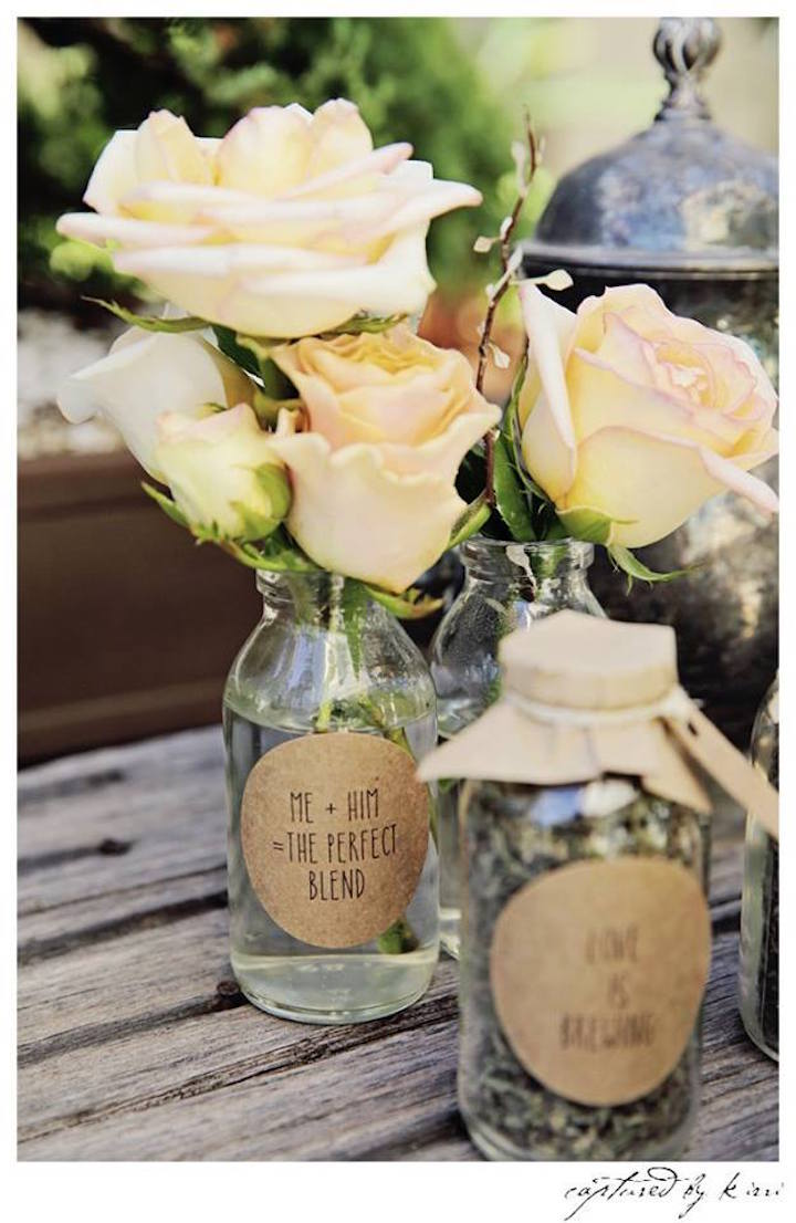 Floral Arrangements from a Rustic Outdoor Bridal Shower via Kara's Party Ideas | KarasPartyIdeas.com | The Place for All Things Party! (56)