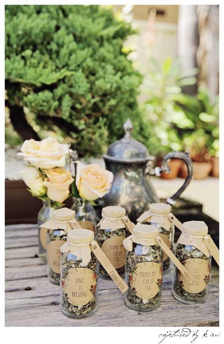 Kara s party ideas rustic country barn wedding party ideas supplies - Tea Bottle Favors From A Rustic Outdoor Bridal Shower Via Kara S Party Ideas Karaspartyideas