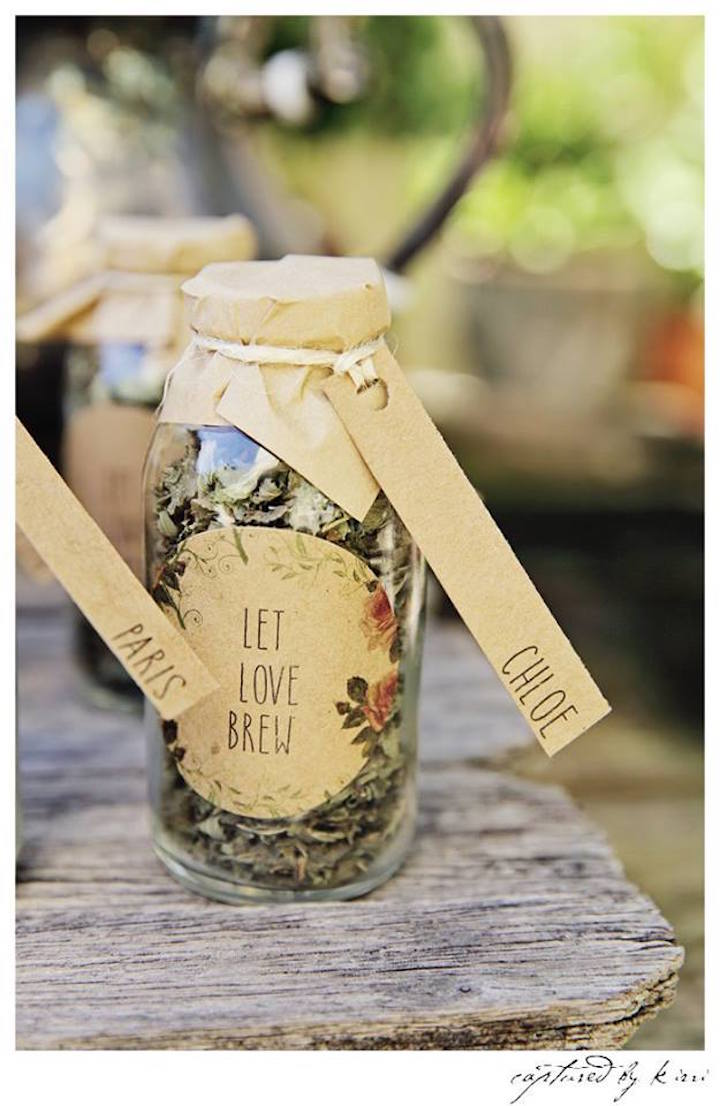 Tea Bottle Favor from a Rustic Outdoor Bridal Shower via Kara's Party Ideas | KarasPartyIdeas.com | The Place for All Things Party! (27)