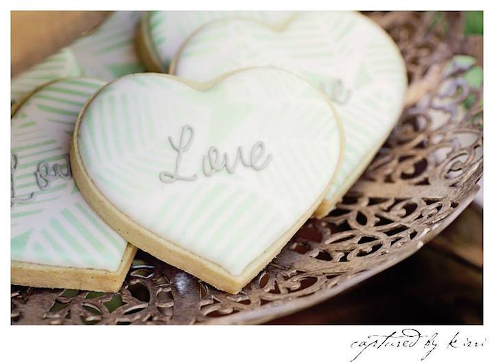 Cookies from a Rustic Outdoor Bridal Shower via Kara's Party Ideas | KarasPartyIdeas.com | The Place for All Things Party! (24)